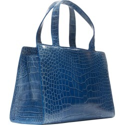 Ralph Lauren Blue Crocodile Leather Top Handle Structured Evening Bag found on Bargain Bro from 1stDibs for USD $623.20
