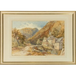 Philip Mitchell RI, Philip Mitchell RI (1814-1896) - 19th Century Watercolour, Crossing a Stone, Unknown found on Bargain Bro Philippines from 1stDibs for $598.00