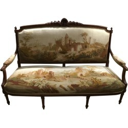 French Louis Xvi Style Seven Piece Parlour Suite, Walnut 19th C With Aubusson found on Bargain Bro India from 1stDibs for $75000.00