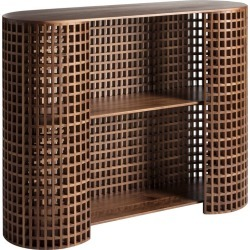 Contemporary And Crafted Drink Cabinet, Sideboards, Shelves, Bookcase In Walnut