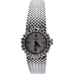 Blancpain Vintage 14 Karat White Gold & Diamond Ladies Watch With 18k Bracelet found on MODAPINS from 1stDibs for USD $2800.00