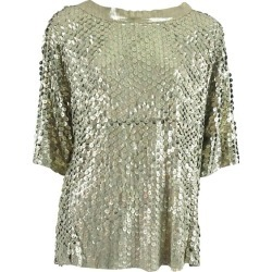 Drome Metallic Laser Cut Leather Top - L found on MODAPINS from 1stDibs for USD $575.00