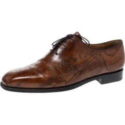 Berluti Brown Galet Scritto Leather Alessandro Oxfords Size 45 found on MODAPINS from 1stDibs for USD $1306.00