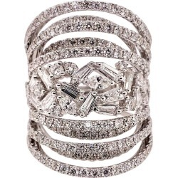 Multi-layer Diamond Cigar Band Cocktail Ring found on Bargain Bro Philippines from 1stDibs for $18200.00