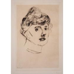 Edvard Munch, The Princess of Ilmenau - Original Etching and Drypoint by E. Munch - 1905/6 , 1905-1906