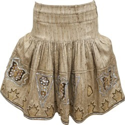 Christian Dior By John Galliano Raw Silk Embroidered Tiered Skirt, C. 2000s found on MODAPINS from 1stDibs for USD $2289.81