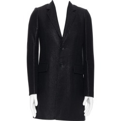 Balenciaga Nicolas Ghesquiere 2008 Black Lacquared Tweed Long Coat Jacket Xs found on Bargain Bro Philippines from 1stDibs for $540.00