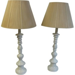 Pair Of Tall Mid-century Modern Classical Styled Porcelain Table Lamps found on Bargain Bro Philippines from 1stDibs for $1425.00