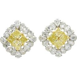 Graff Natural Yellow And White Diamond Earrings