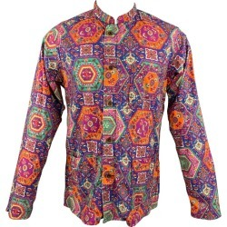 Engineered Garments Size M Multi-color Print Cotton Long Sleeve Shirt found on MODAPINS from 1stDibs for USD $202.00