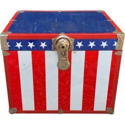 Metal, 1970s Stars And Stripes Roadie Box found on Bargain Bro India from 1stDibs for $425.00