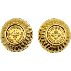 Vintage Givenchy Gold Coin Earrings 1980s found on Bargain Bro India from 1stDibs for $341.65