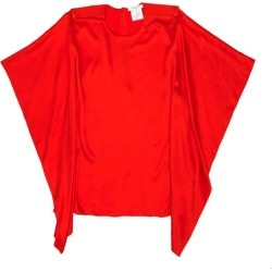 Givenchy Blouse In Red Silk Size 38 found on Bargain Bro India from 1stDibs for $793.46