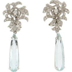 Handcraft Brazilian Aquamarine 18 Karat White Gold Diamonds Drop Earrings found on Bargain Bro Philippines from 1stDibs for $4670.61