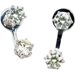 Diamond Stud Earrings 18 Karat White Gold
