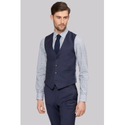 Moss 1851 Tailored Fit Blue Waistcoat found on Bargain Bro UK from Moss Bros Retail