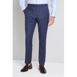 Moss 1851 Italian Tailored Fit Blue Windowpane Trouser found on Bargain Bro UK from Moss Bros Retail