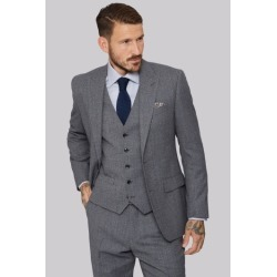 Moss 1851 Tailored Fit Light Grey Speckled Jacket found on Bargain Bro UK from Moss Bros Retail