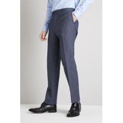 Moss Esq. Regular Fit Navy Salt and Pepper Trousers found on Bargain Bro UK from Moss Bros Retail