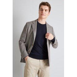 Moss 1851 Tailored Fit Grey Open Weave Jacket found on Bargain Bro UK from Moss Bros Retail