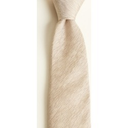 Moss 1851 Taupe Plain Silk, Linen & Viscose Tie found on Bargain Bro UK from Moss Bros Retail