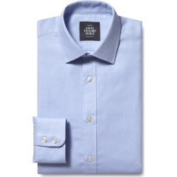 Savoy Taylors Guild Regular Fit Single Cuff Sky Dobby Shirt found on Bargain Bro UK from Moss Bros Retail