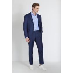 Reda Slim Fit Blue Sharkskin Jacket found on Bargain Bro UK from Moss Bros Retail