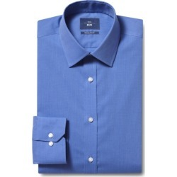 Moss 1851 Regular Fit Blue Single Cuff End on End Shirt found on Bargain Bro UK from Moss Bros Retail