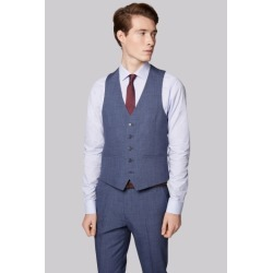 Moss London Skinny Fit Blue Speckled Waistcoat found on Bargain Bro UK from Moss Bros Retail