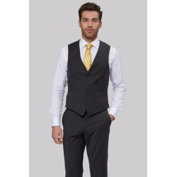 Moss 1851 Performance Tailored Fit Charcoal Waistcoat found on Bargain Bro UK from Moss Bros Retail