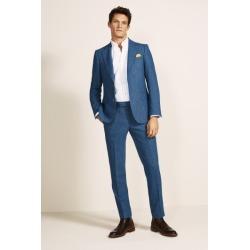 Moss 1851 Tailored Fit Blue Herringbone Tweed Jacket found on Bargain Bro UK from Moss Bros Retail