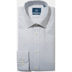 Moss 1851 Tailored Fit Grey Single Cuff Dobby Spot Shirt found on Bargain Bro UK from Moss Bros Retail