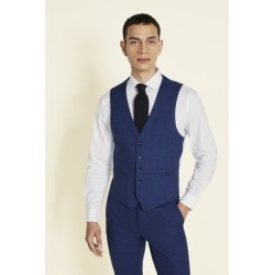 Moss London Slim Fit Blue Slub Waistcoat found on Bargain Bro UK from Moss Bros Retail