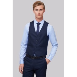 Moss London Skinny Fit Navy Semi Plain Waistcoat found on Bargain Bro UK from Moss Bros Retail