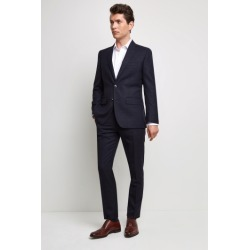 Moss 1851 Tailored Fit Blue & Gold Check Jacket found on Bargain Bro UK from Moss Bros Retail