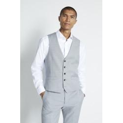 Moss London Slim Fit Grey Stretch Waistcoat found on Bargain Bro UK from Moss Bros Retail