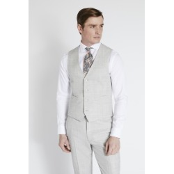 French Connection Slim Fit Light Grey Flannel Waistcoat found on Bargain Bro UK from Moss Bros Retail