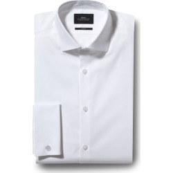 Moss London Skinny Fit White Double Cuff Stretch Shirt found on Bargain Bro UK from Moss Bros Retail