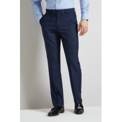 Moss Esq. Regular Fit Bright Blue Check Trousers found on Bargain Bro UK from Moss Bros Retail