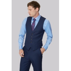 Ted Baker Gold Tailored Fit Navy Two Tone Waistcoat found on Bargain Bro UK from Moss Bros Retail