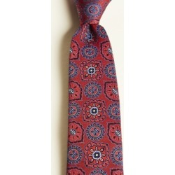 Moss 1851 Red Large Classic Medallion Silk Tie found on Bargain Bro UK from Moss Bros Retail