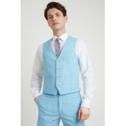 French Connection Slim Fit Light Blue Waistcoat found on Bargain Bro UK from Moss Bros Retail