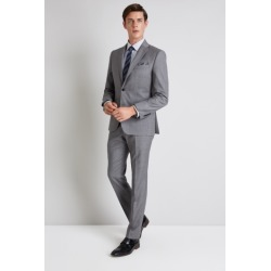 Moss 1851 Tailored Fit Grey Sharkskin Jacket found on Bargain Bro UK from Moss Bros Retail