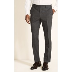 Ermenegildo Zegna Cloth Tailored Fit Grey with Red Check Trousers found on Bargain Bro UK from Moss Bros Retail