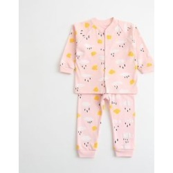 Baby Set: Patterned Pullover + Pants