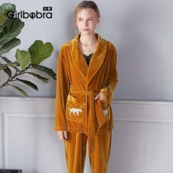 Loungewear Set: Animal Appliqued Robe + Pants found on Bargain Bro India from yes style for $30.90