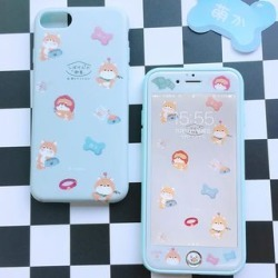 Dog Print Phone Case / Set: Dog Print Phone Case + Protective Film - Apple iPhone 6 / 6 Plus / 7 / 7 Plus / 8 / 8 Plus / X found on Bargain Bro India from yes style for $16.90