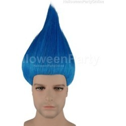 Party Wig - Trolls Blue Blue - One Size