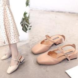 Square-Toe Block Heel Sandals