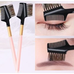 Eyebrow Brush with Comb Pink - One Size found on Bargain Bro India from yes style for $3.90